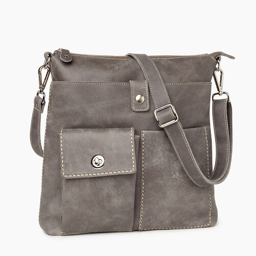 Roots-Women Crossbody-Canadian Villager Tribe-Charcoal-A