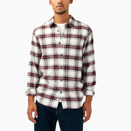 Roots-Men Our Favourite New Arrivals-Maple Flannel Shirt-Crimson-A