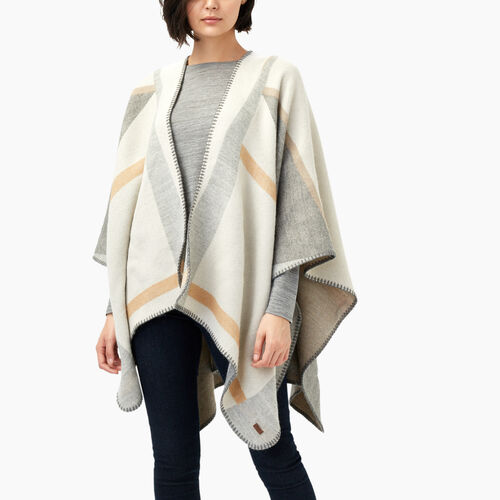 Roots-Women Accessories-Parksville Wrap-Taupe-A