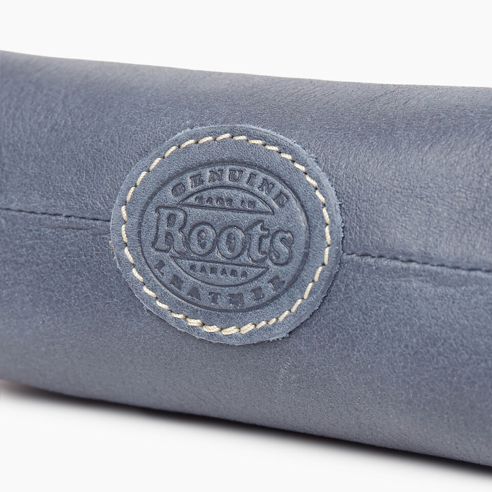 Roots-Leather New Arrivals-Small Canmore Pouch Tribe-Navy-D