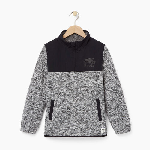 Roots-Clearance Kids-Boys Multi Fabric Pullover-Salt & Pepper-A
