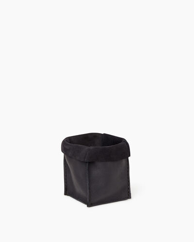 Roots-Leather Roots Home-Small Rollover Basket Tribe-Jet Black-A