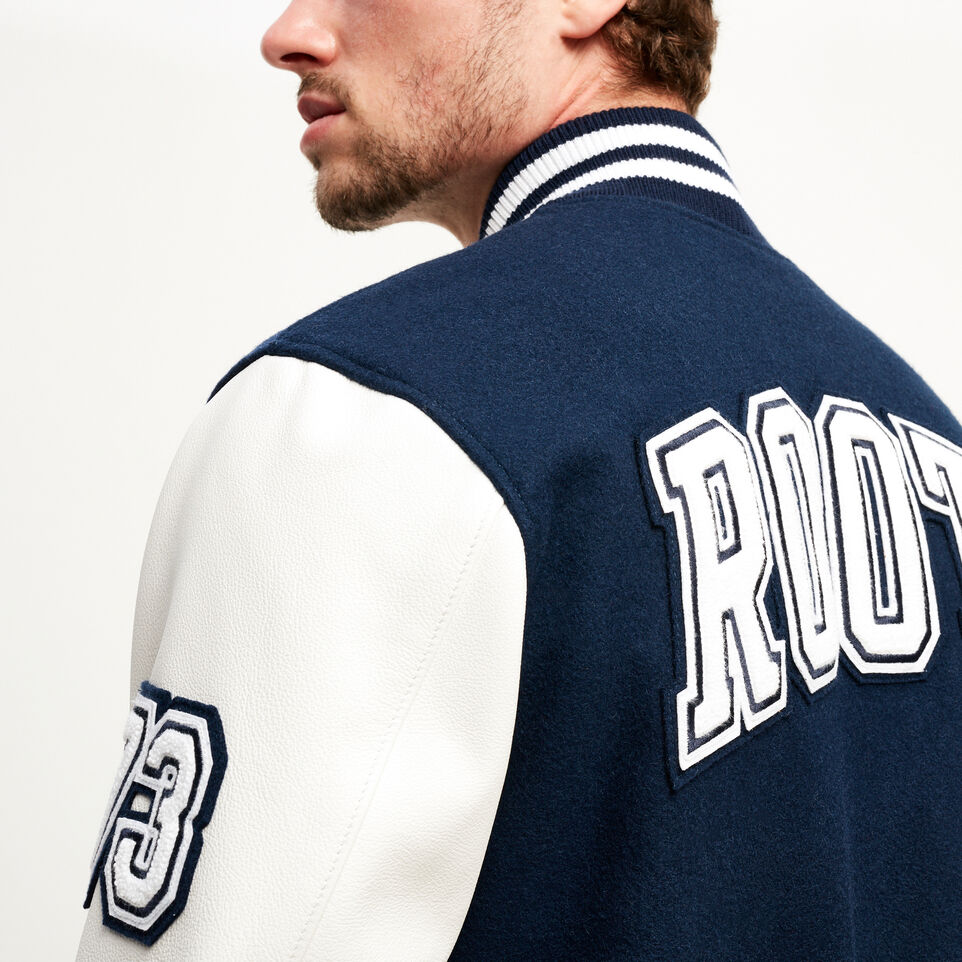 Roots-Men Award Jackets-Vintage Award Jacket-Navy-E