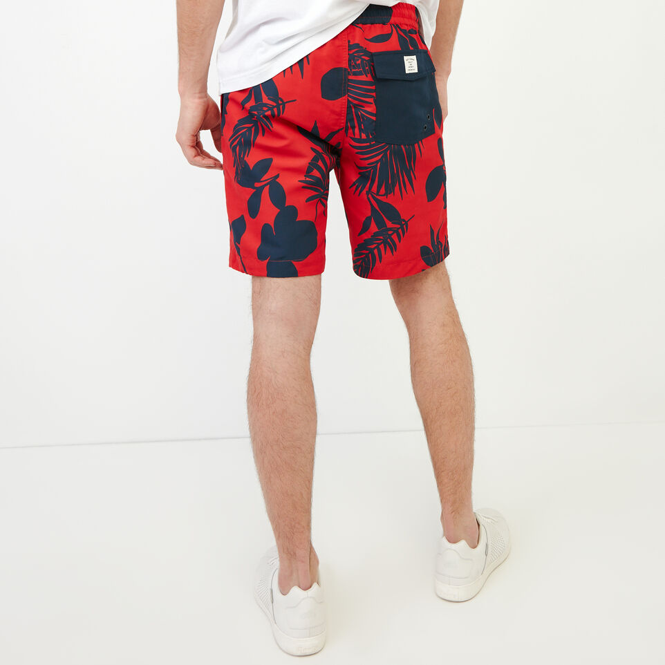 Roots-Men Our Favourite New Arrivals-Dock Aop Short-Racing Red-D