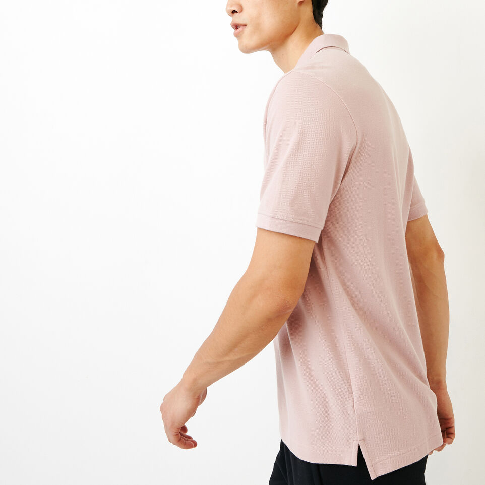 Roots-Men Categories-Heritage Pique Polo-Burnished Lilac-C