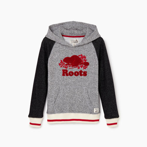 Roots-New For October Kids-Boys Roots Cabin Kanga Hoody-Salt & Pepper-A