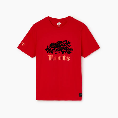 Roots-Men Our Favourite New Arrivals-Mens Lunar New Year Slim T-Shirt-Racing Red-A