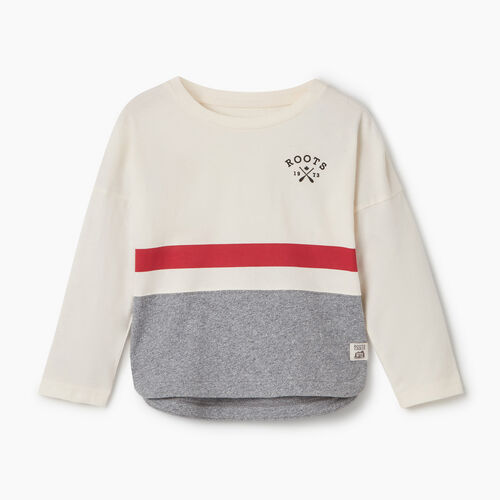 Roots-Kids Tops-Toddler Cabin Top-Light Salt & Pepper-A