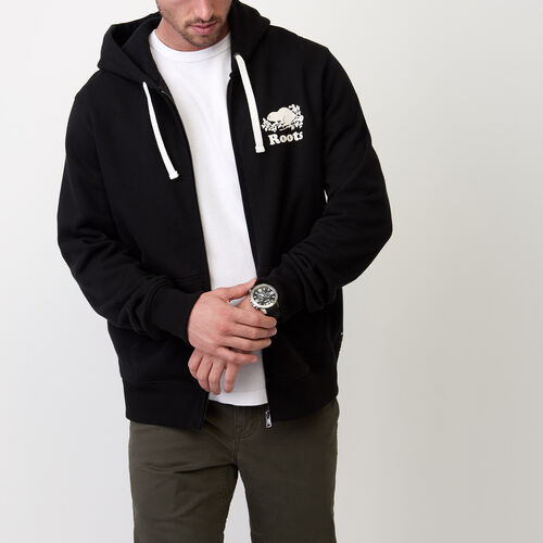 Roots-New For July Men-Original Full Zip Hoody-Black-A