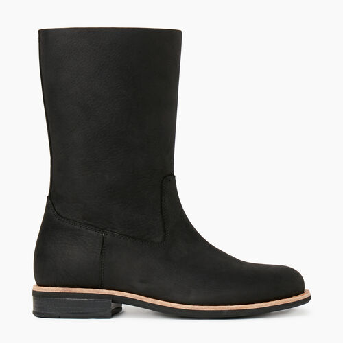 Roots-Women Categories-Womens Roll Over Boot-Black-A