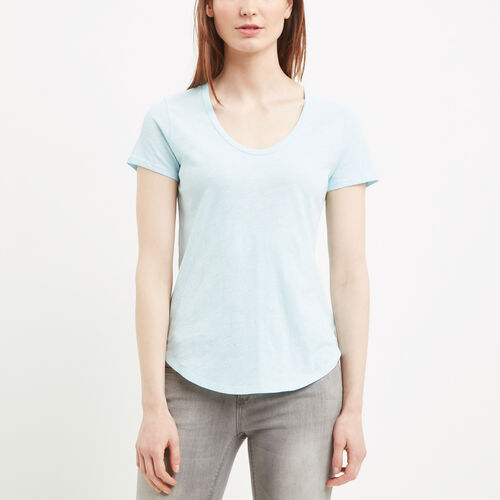 Roots-Women Bestsellers-Savanna Scoop Neck Top-Corydalis Blue-A