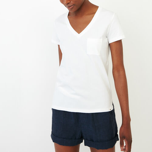 Roots-Women Categories-Essential V T-shirt-Ivory-A