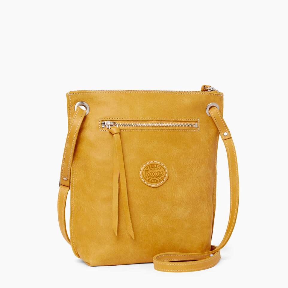 Roots-Leather  Handcrafted By Us Handbags-Festival Bag Tribe-Squash Yellow-C