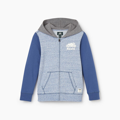 Roots-Kids New Arrivals-Boys Original Full Zip Hoody-True Navy Mix-A