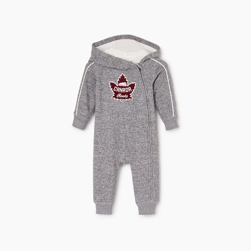 Roots-Kids Baby Girl-Baby Canada Romper-Salt & Pepper-A