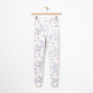 Roots-Kids Bottoms-Girls Watercolour Terry Legging-Cloudy White-A