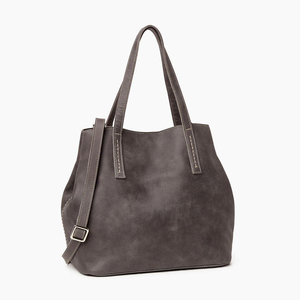 Roots-Leather New Arrivals-Amelia Tote-Charcoal-A
