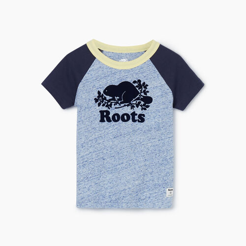 Roots-Kids Tops-Toddler Cooper Baseball T-shirt-True Navy Mix-A