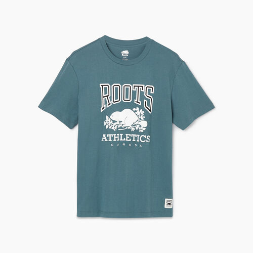 Roots-New For February Rba Collection-Mens RBA T-shirt-North Atlantic-A