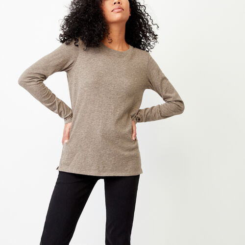 Roots-Women Our Favourite New Arrivals-Pierce Crew Top-Dk Oatmeal Mix-A