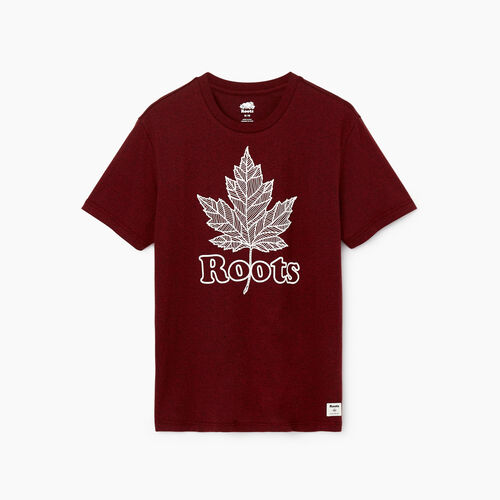Roots-Men Our Favourite New Arrivals-Mens Roots Maple T-shirt-Rosewood Pepper-A