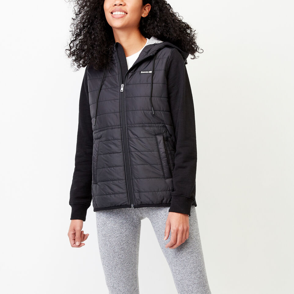Roots-New For March Daily Offer-Roots Hybrid Hoody Jacket-Black-A