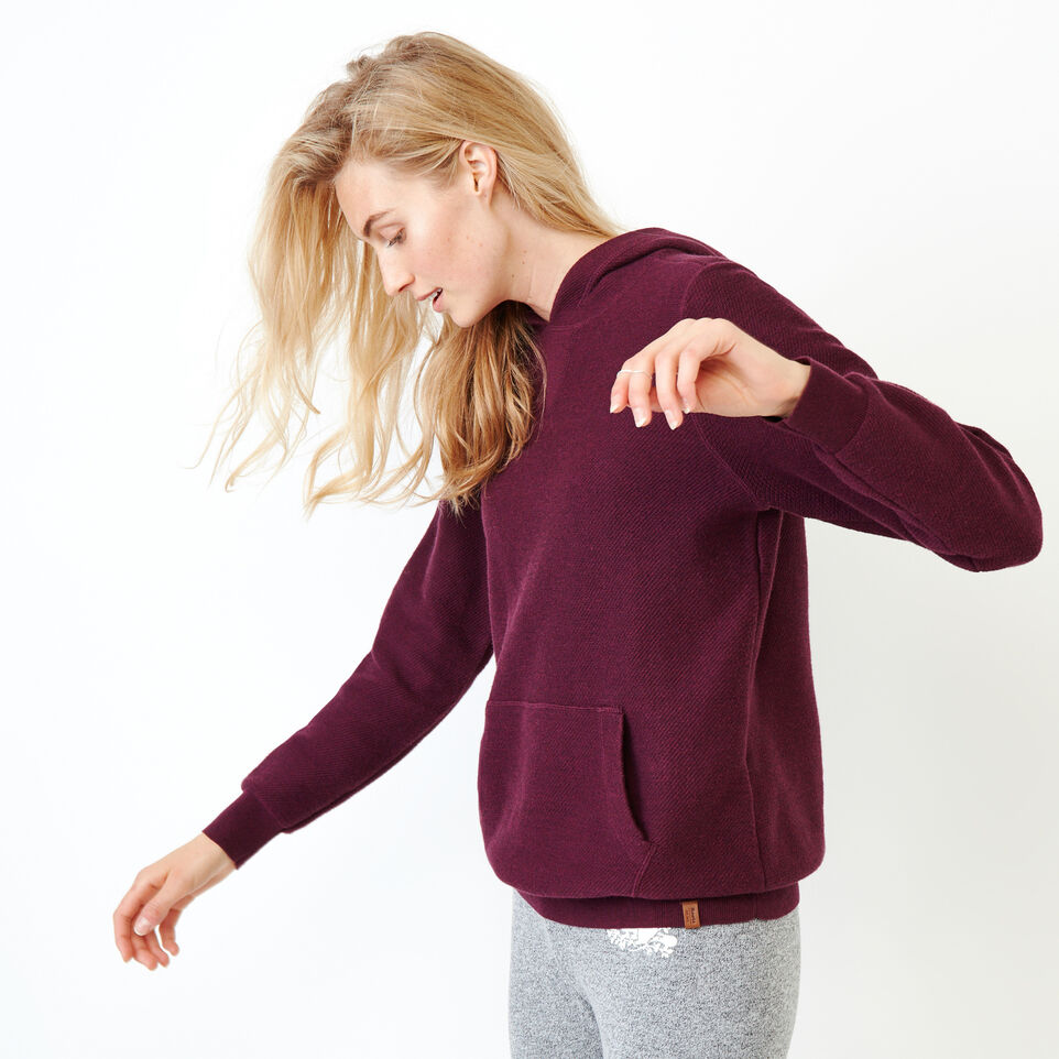 Roots-Women Sweaters & Cardigans-Maple Sweater Hoody-Pickled Beet Mix-C