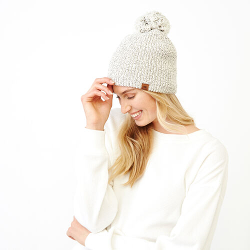 Roots-Women Categories-Snowy Fox Pom Pom Toque-Snowy Fox-A