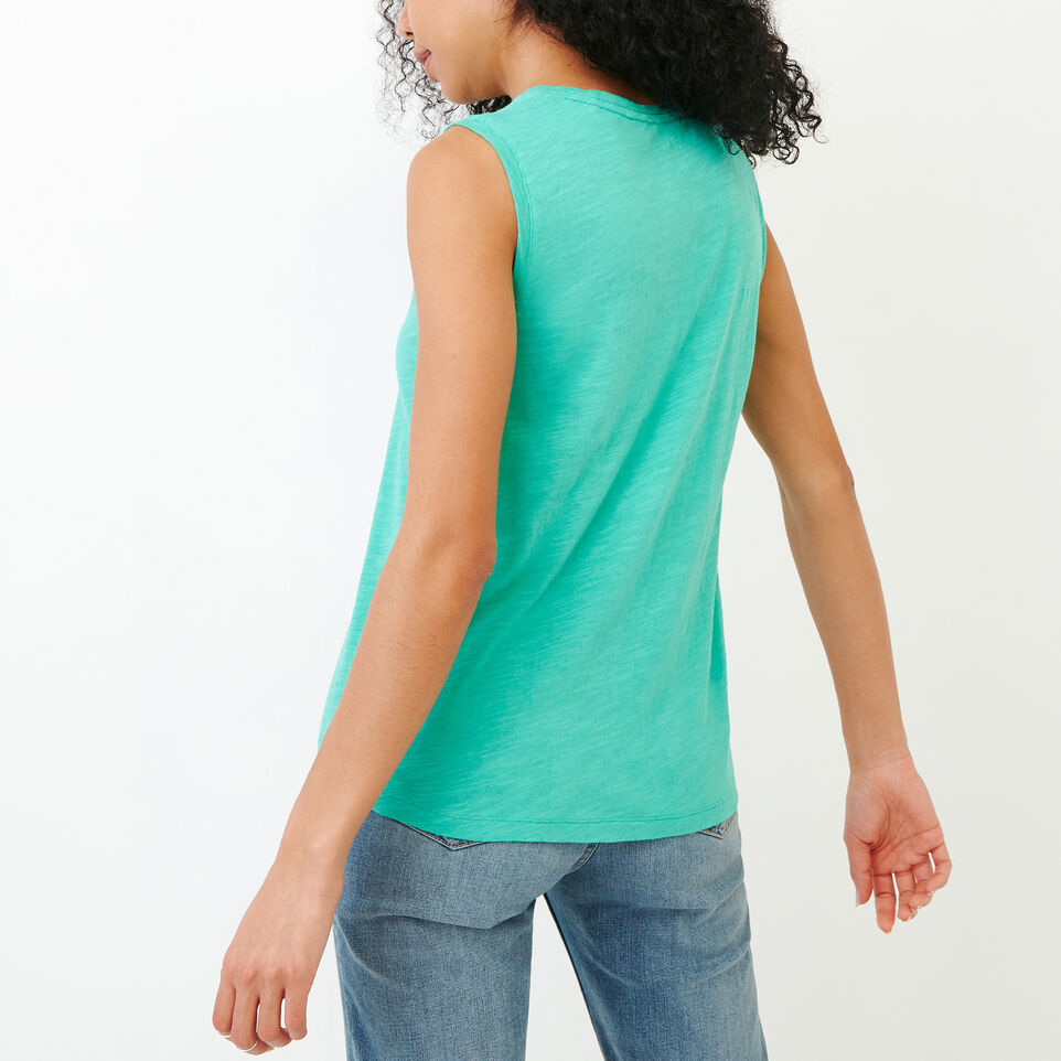 Roots-Women Our Favourite New Arrivals-Lorne Muscle Tank Top-Sea Green-D