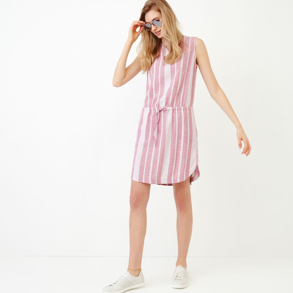 Roots-Women Our Favourite New Arrivals-Hazelton Dress-Raspberry Rose-B