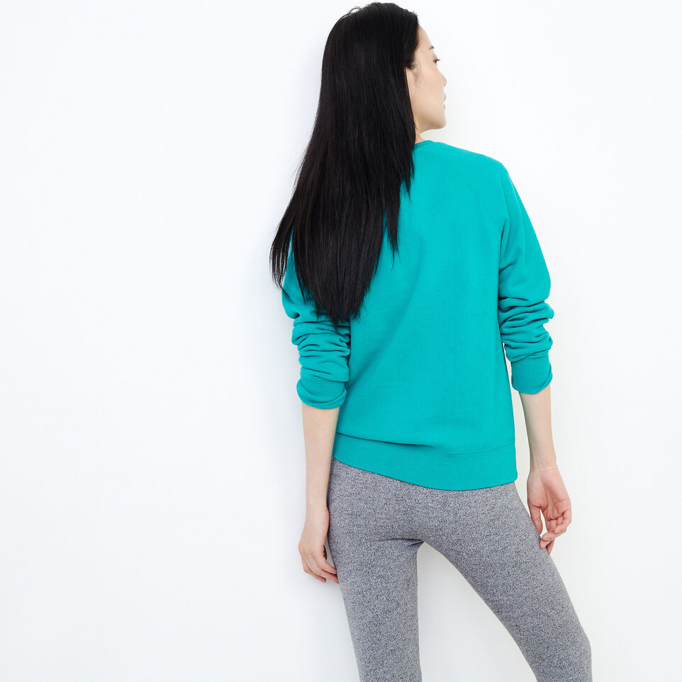 Roots-Women Our Favourite New Arrivals-Original Crew Sweatshirt-Dynasty Turquoise-E
