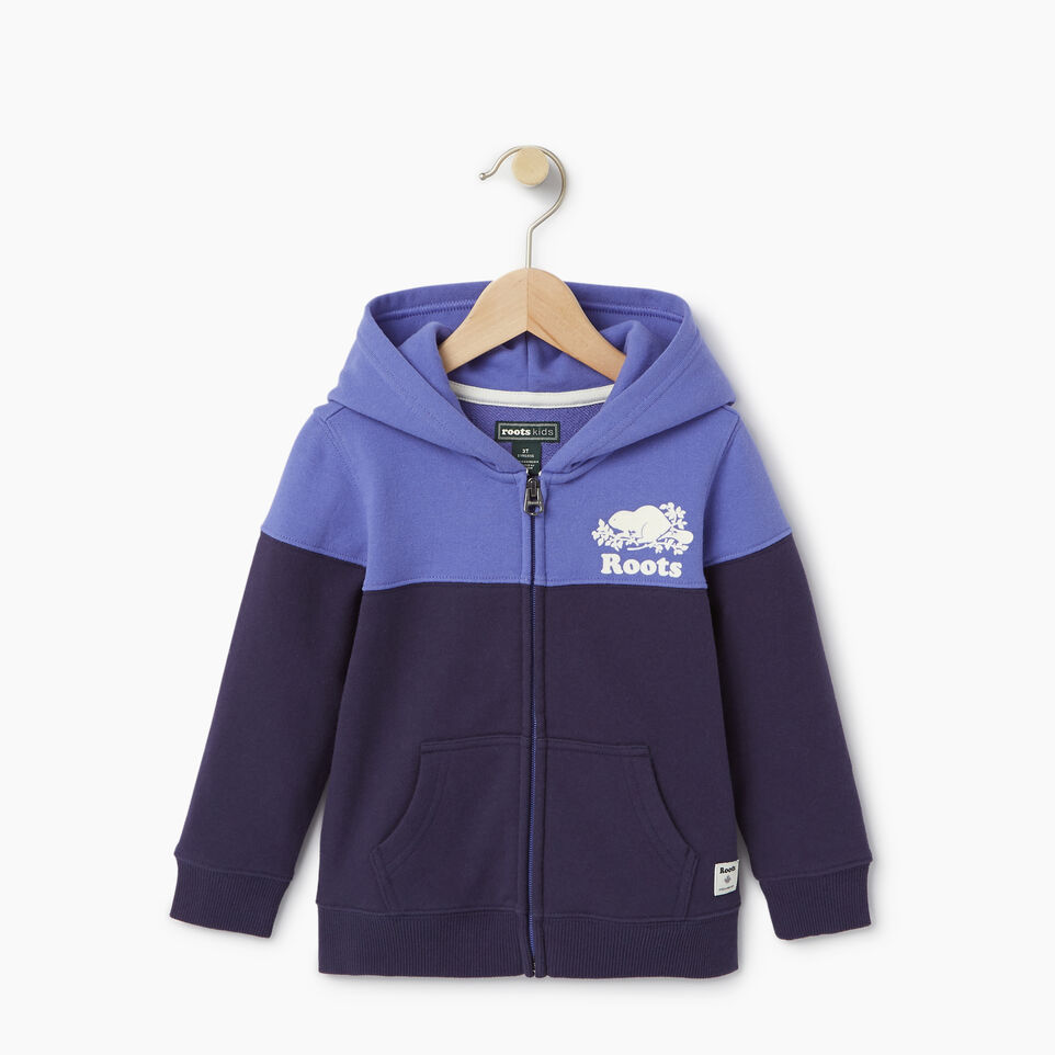 Roots-Kids Our Favourite New Arrivals-Toddler Colour Block Full Zip Hoody-Violet Storm-A
