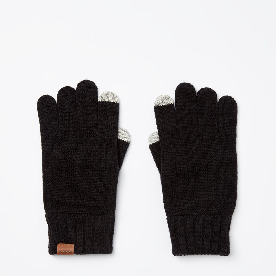 Roots-undefined-Mens Touch Screen Glove-undefined-B