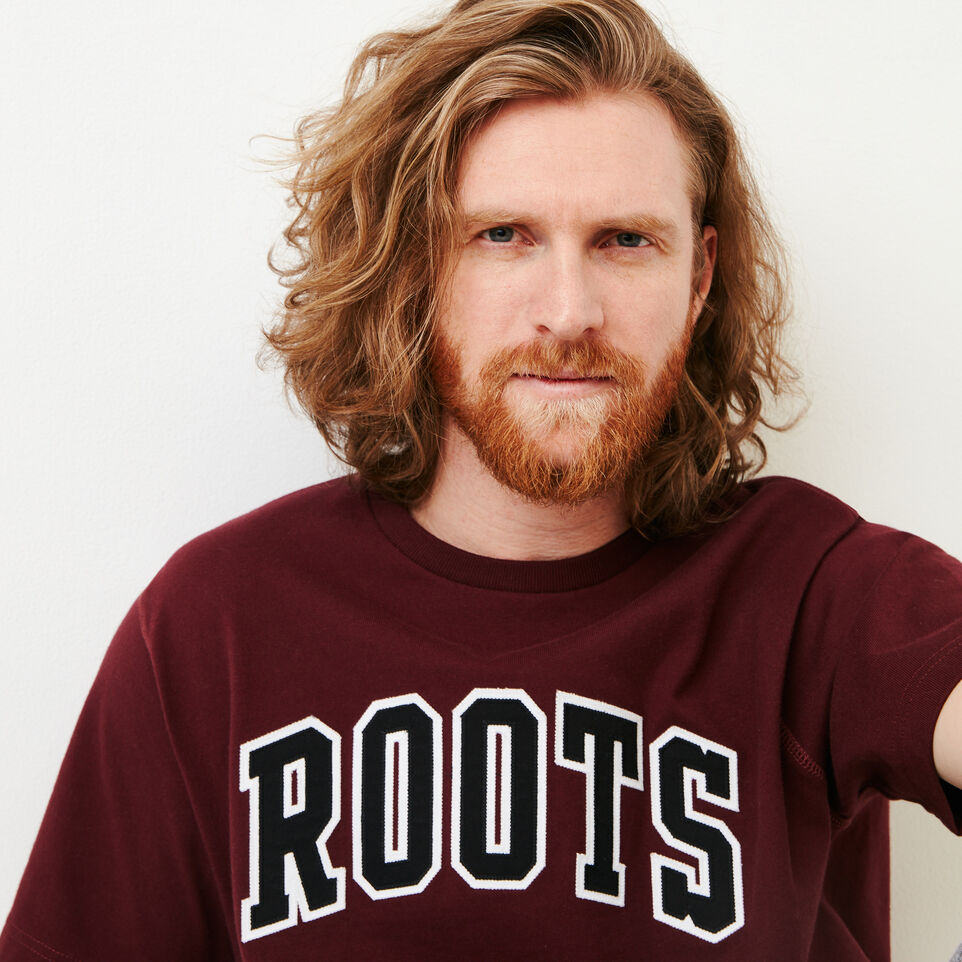 Roots-Men Categories-10oz Heavy Jersey T-shirt-Northern Red-E