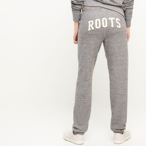 Roots-Women Bottoms-Roots Salt and Pepper Original Boyfriend Sweatpant-Salt & Pepper-A