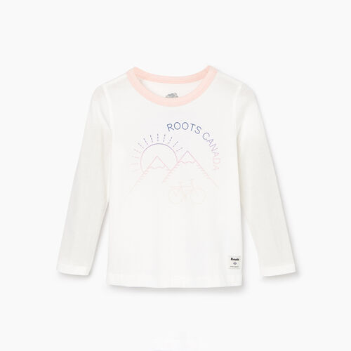 Roots-Kids Our Favourite New Arrivals-Toddler Cycle T-shirt-Ivory-A