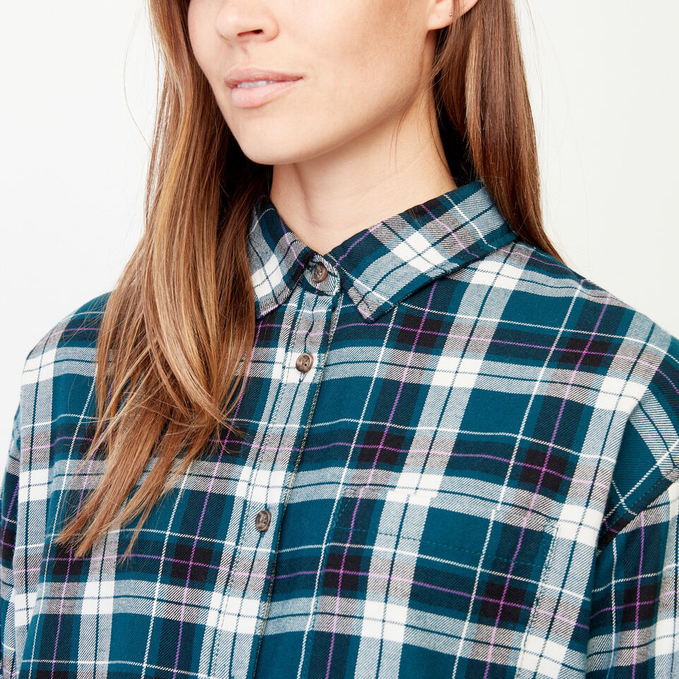 Roots-Women Our Favourite New Arrivals-Alaina Boyfriend Shirt-Shaded Spruce-E