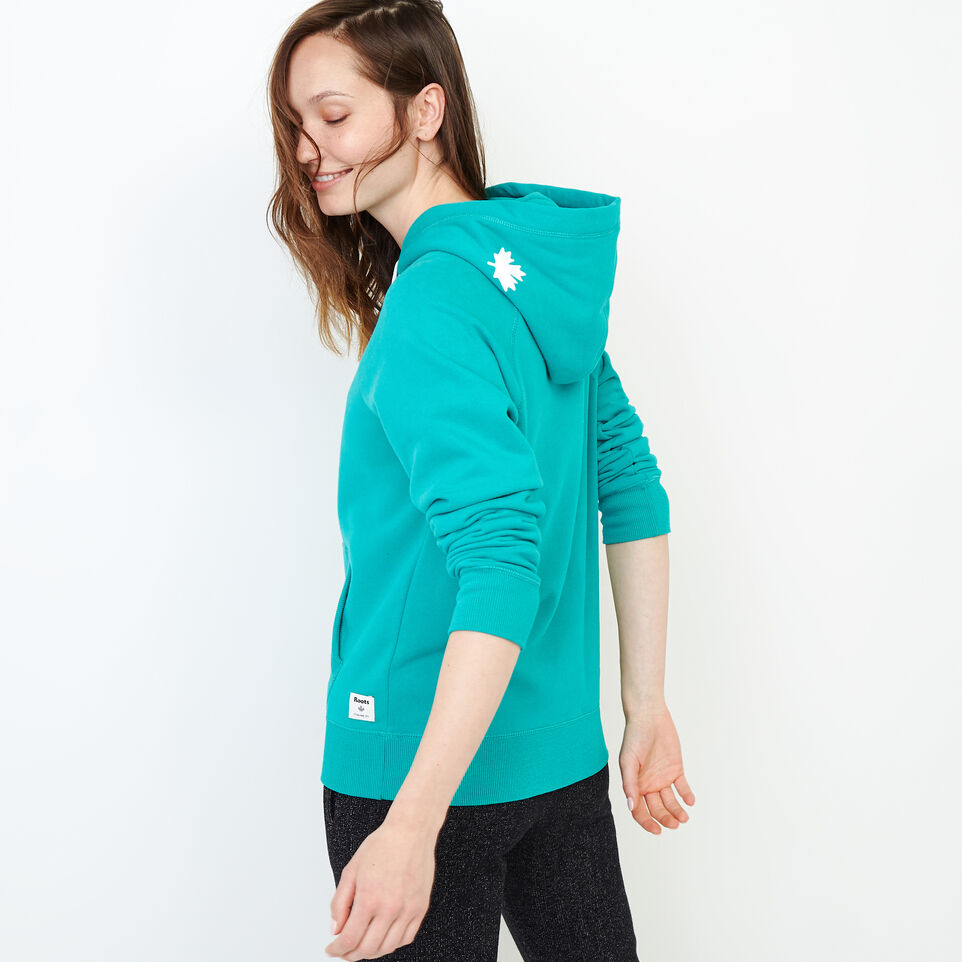 Roots-Women Our Favourite New Arrivals-Original Kanga Hoody-Dynasty Turquoise-D