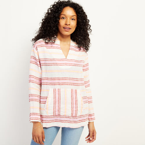 Roots-Women Clothing-Beachcomber Woven Hoody-Sunset Apricot-A