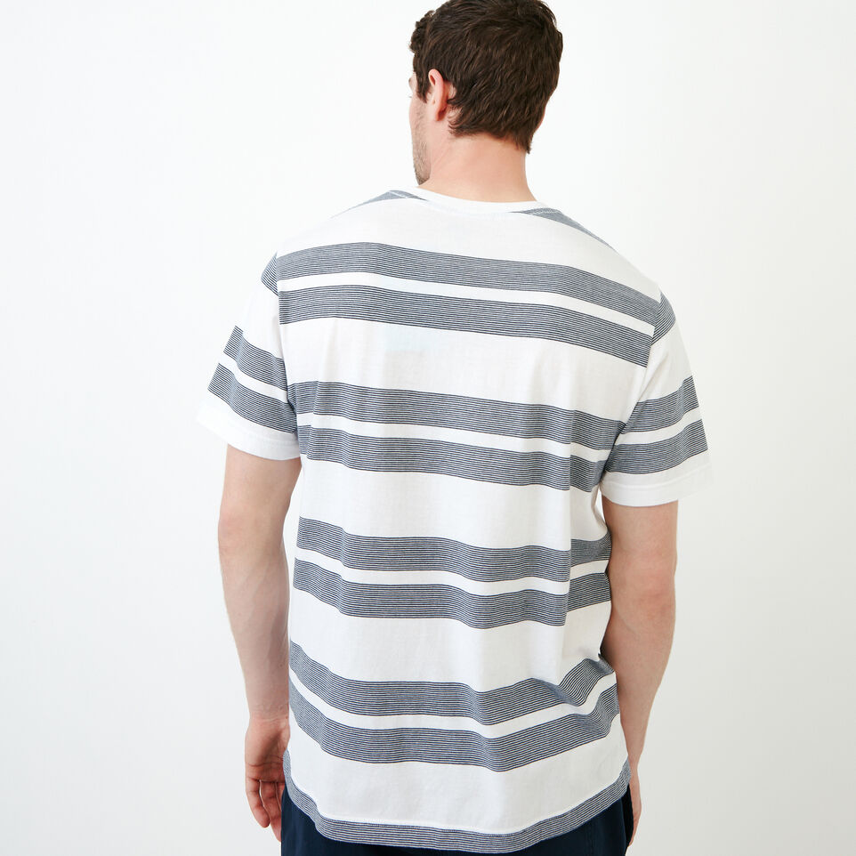 Roots-Men Our Favourite New Arrivals-Mercer Striped T-shirt-White-D