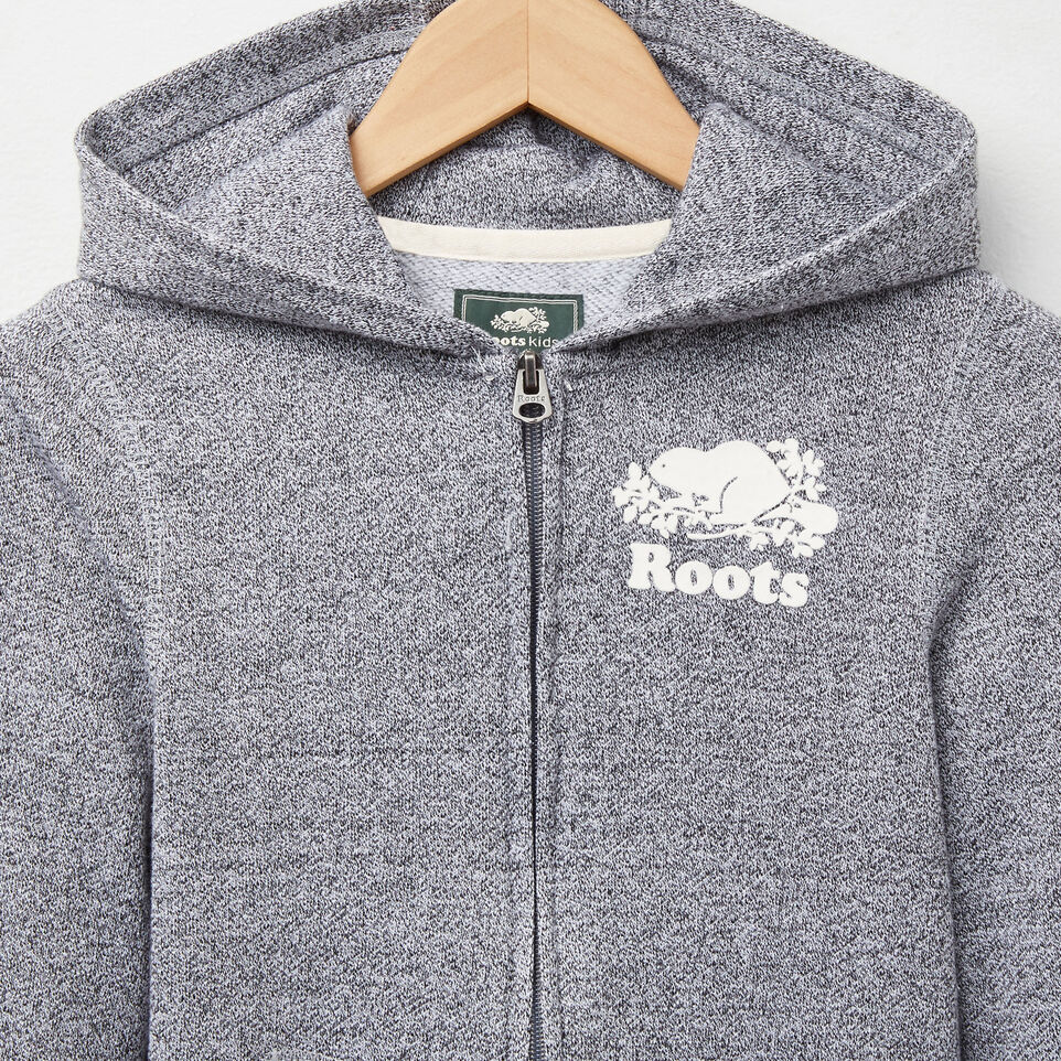 Roots-undefined-Girls Roots Salt and Pepper Original Full Zip Hoody-undefined-C