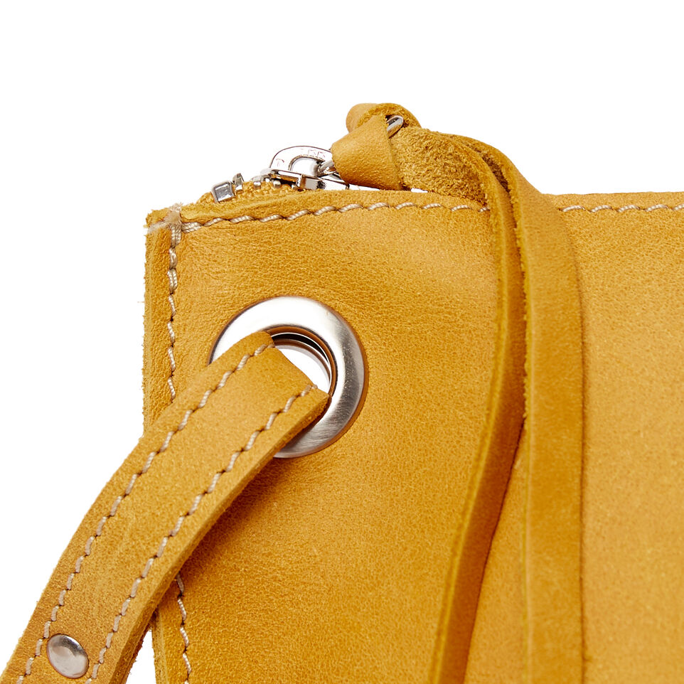 Roots-Leather  Handcrafted By Us Handbags-Festival Bag Tribe-Squash Yellow-D