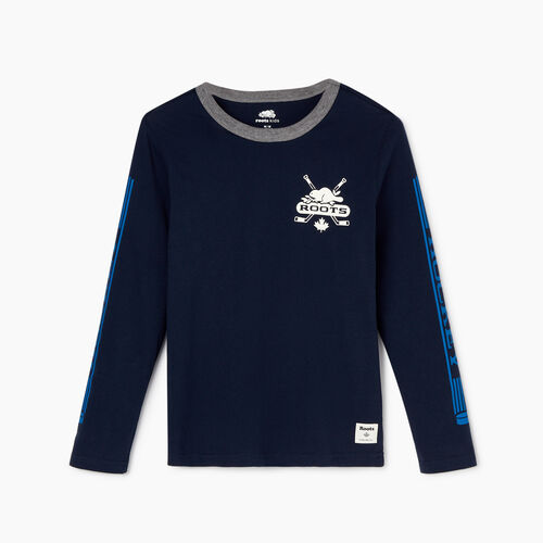 Roots-Kids Our Favourite New Arrivals-Boys Hockey T-shirt-Navy Blazer-A