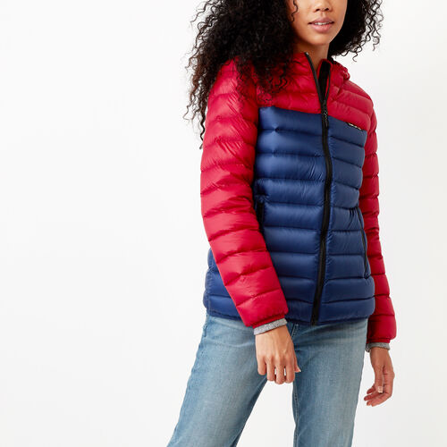 Roots-Sale Women-Roots Packable Down Jacket-Lodge Red-A