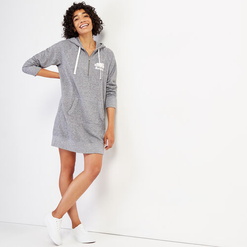 Roots-Women Dresses & Jumpsuits-Dockside Longsleeve Dress-Salt & Pepper-A