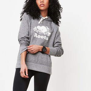 Roots-New For March Women-Roots Salt and Pepper Original Kanga Hoody-Salt & Pepper-A