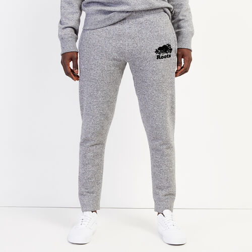 Roots-Men Bottoms-Park Slim Sweatpant - Tall-Salt & Pepper-A
