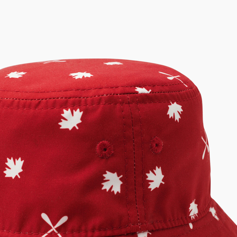 Roots-Kids Toddler Boys-Toddler Canada Aop Bucket Hat-Red-D