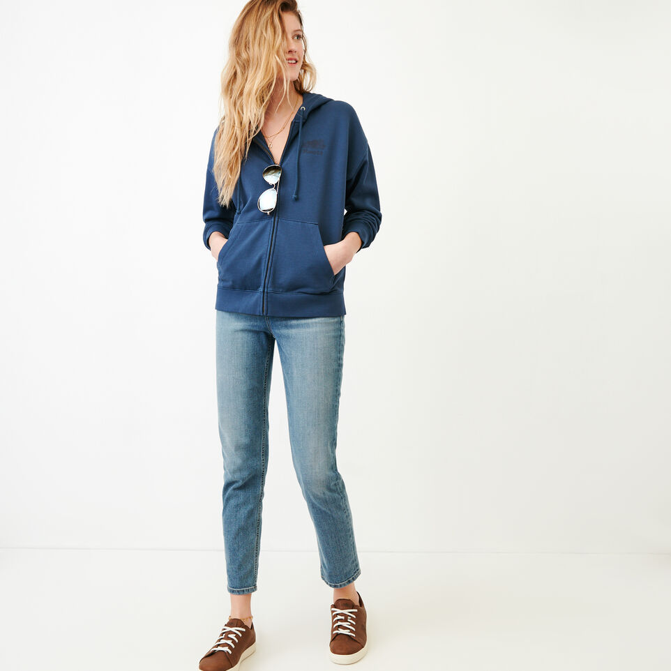 Roots-Women Our Favourite New Arrivals-Kelowna Full Zip Hoody-Sargasso Sea-B