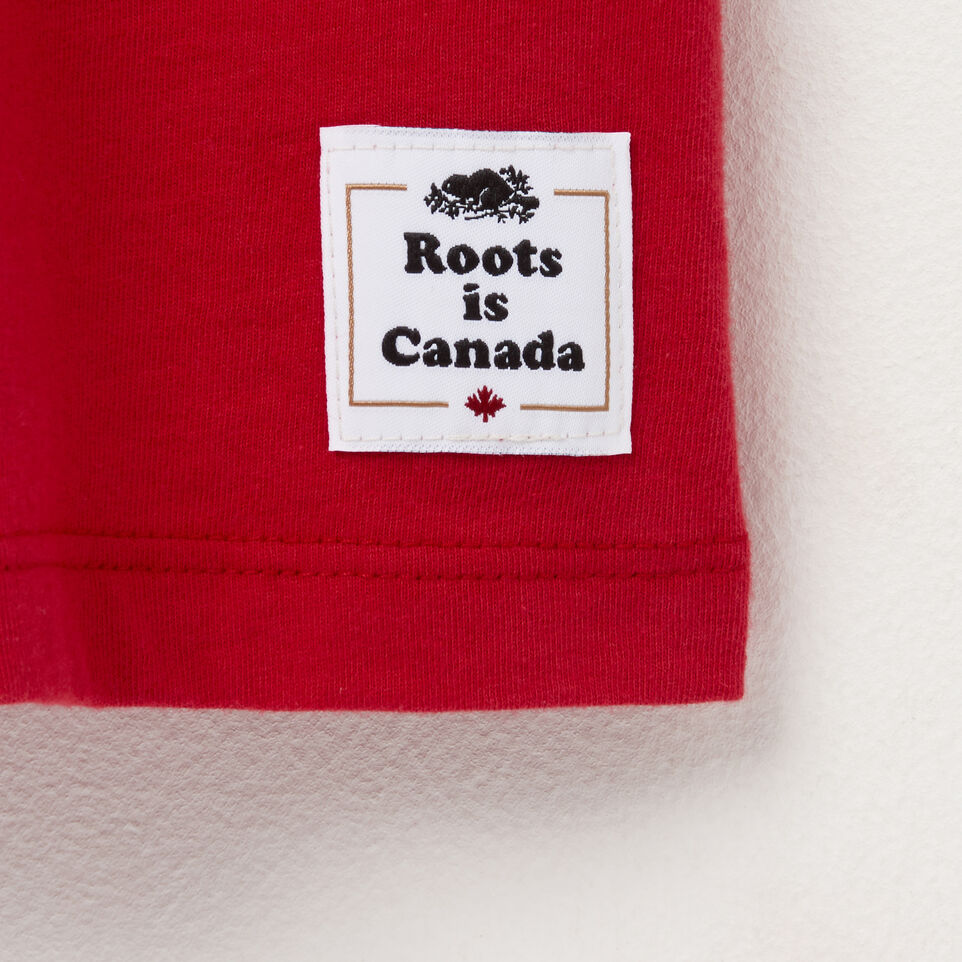 Roots-Women Canada Collection By Roots™-Womens Blazon Tshirt-Sage Red-C